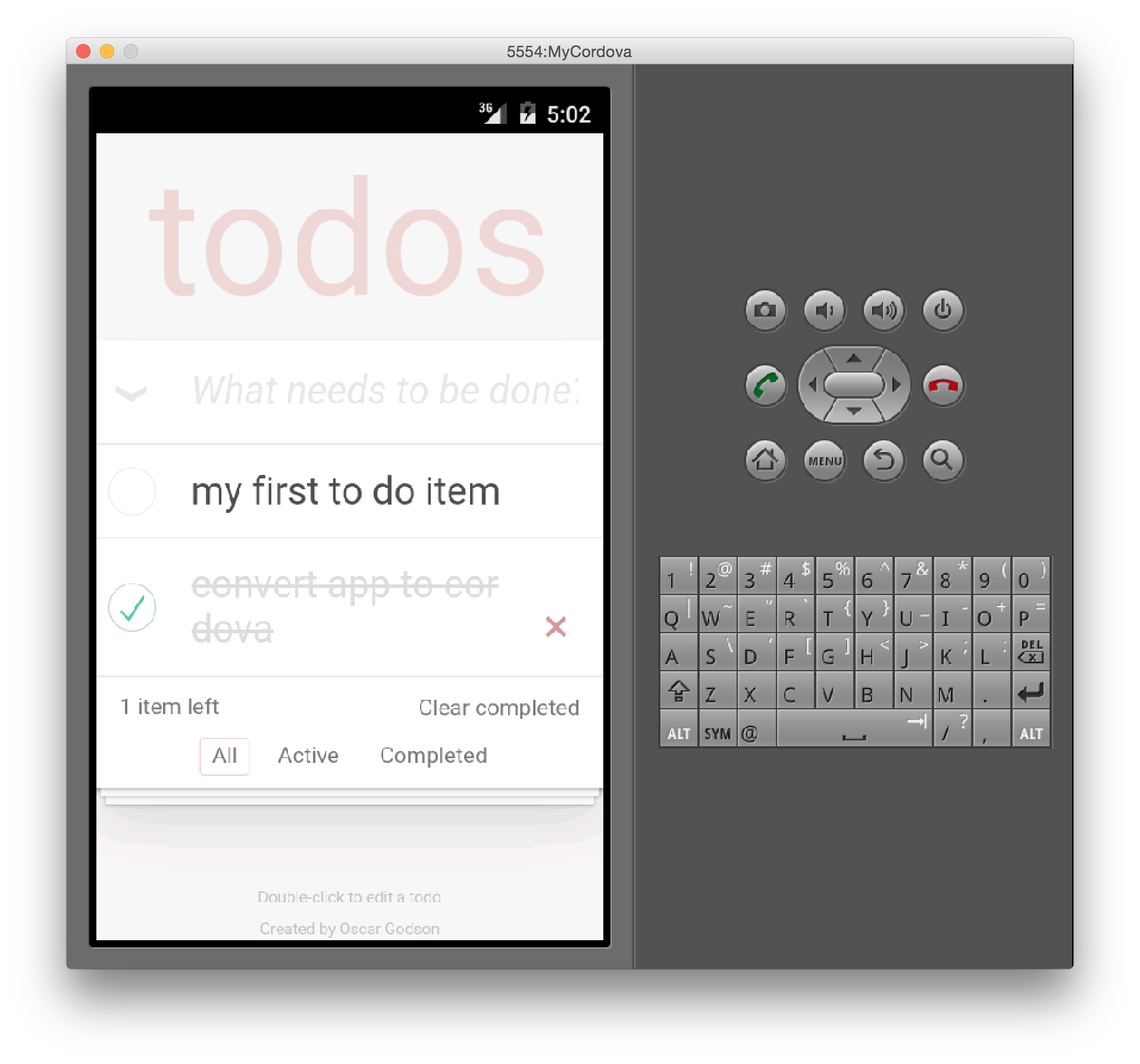Running the app in Android
