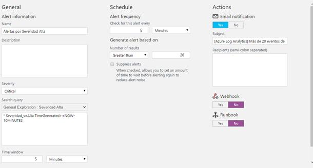 Azure Log Analytics alerts and webhooks