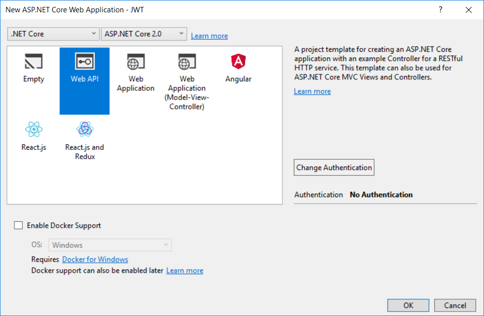 Creating ASP.NET Core 2 Web API