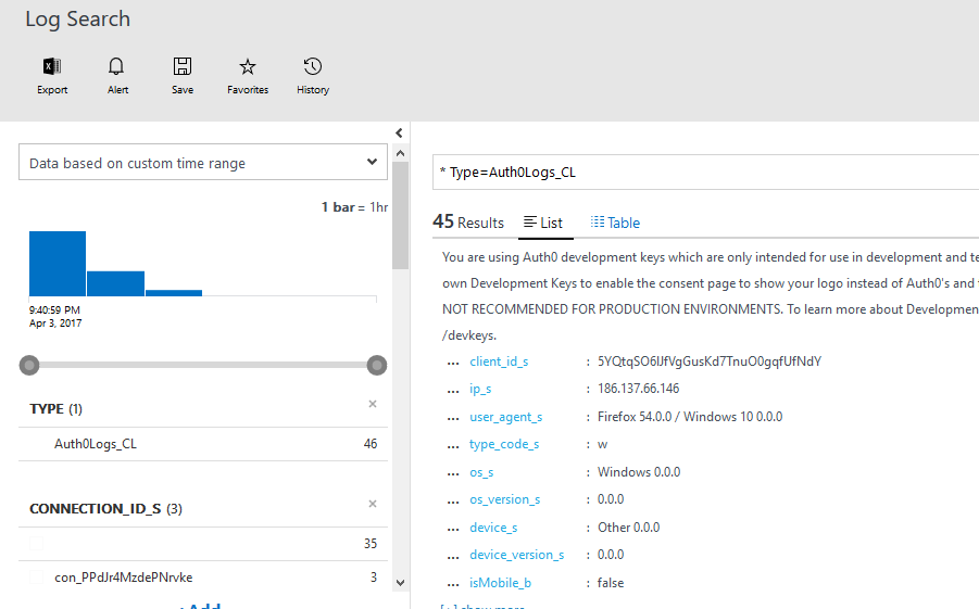Azure Log Analytics queries