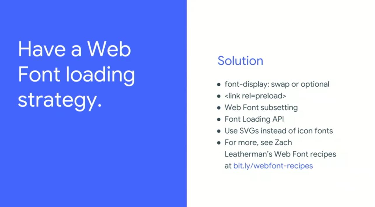 Web Font Loading strategy