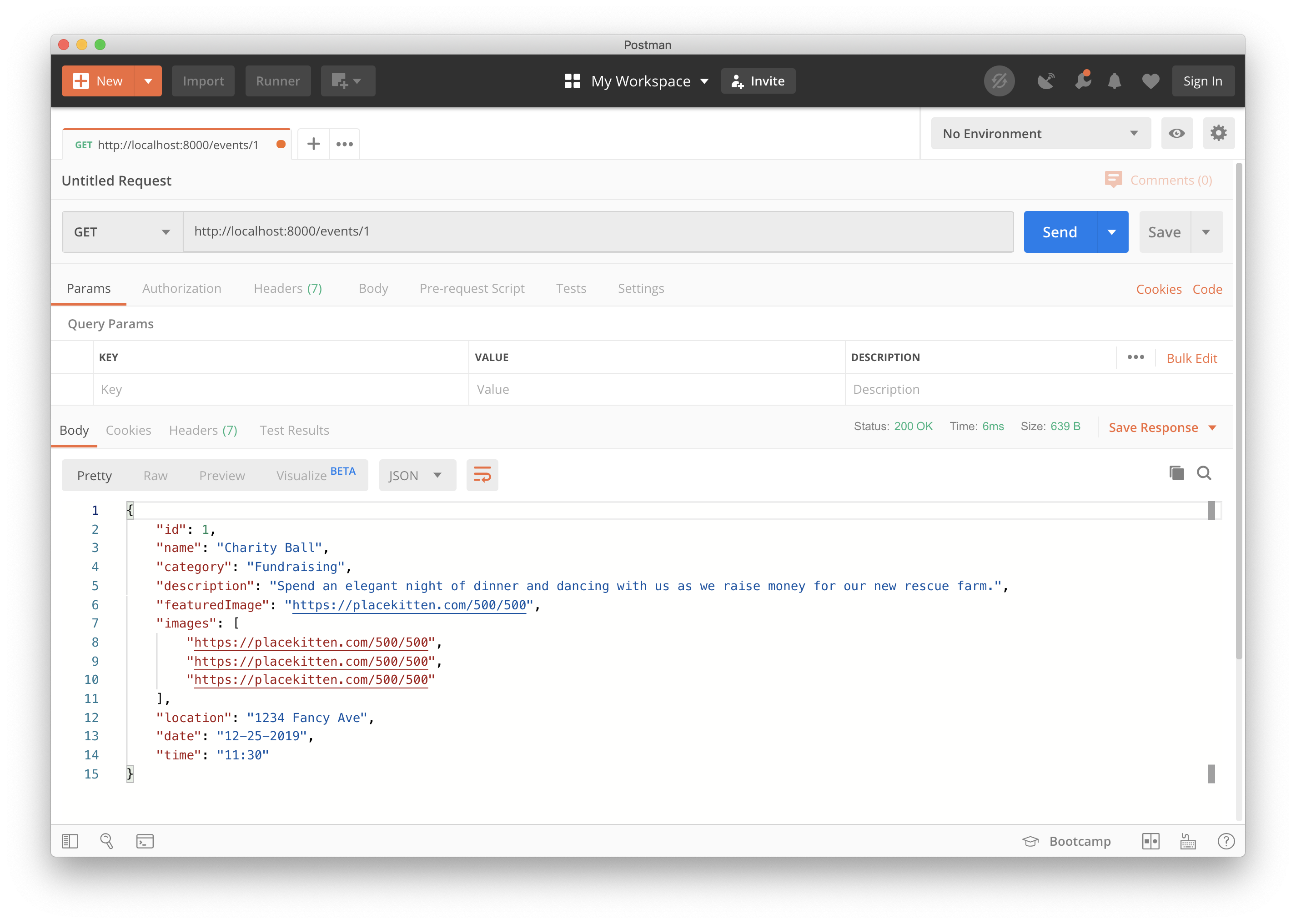 Vue Express API request in Postman bypassing authentication