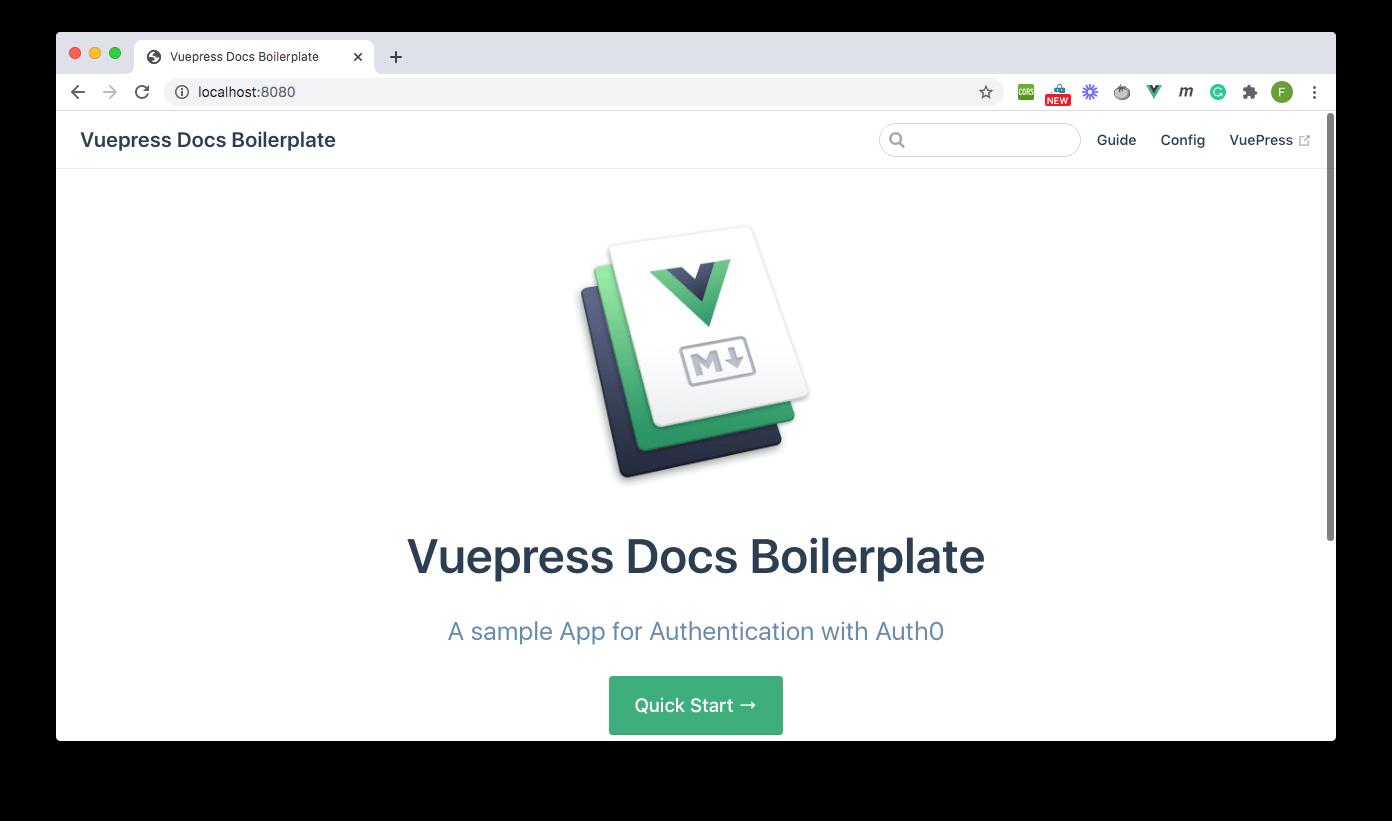 Default Page - Vuepress