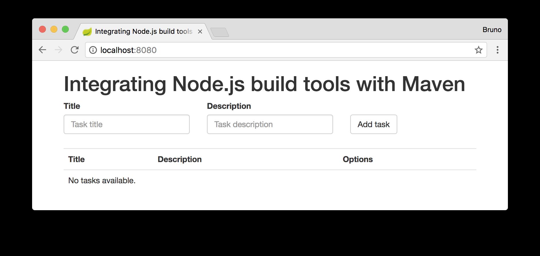 Integrating Node.js Build Tools with Maven