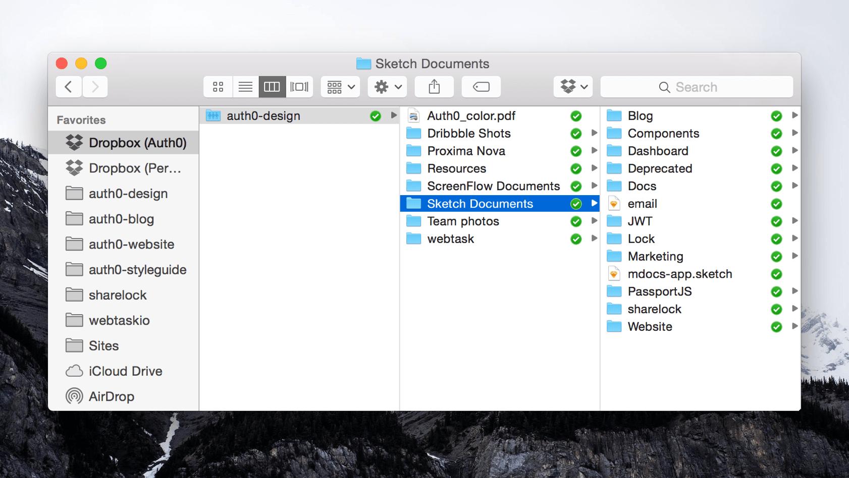 Design process Dropbox usage