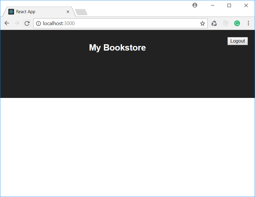 Empty list of books