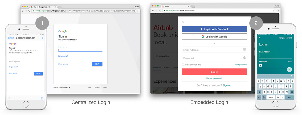 Auth0 Universal Login offerings