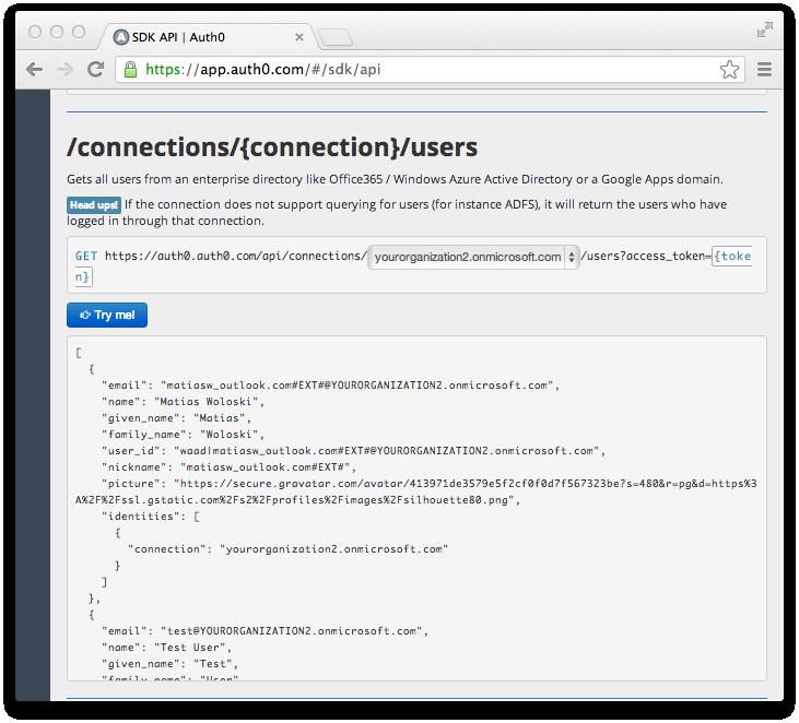 Uniform Users API across providers