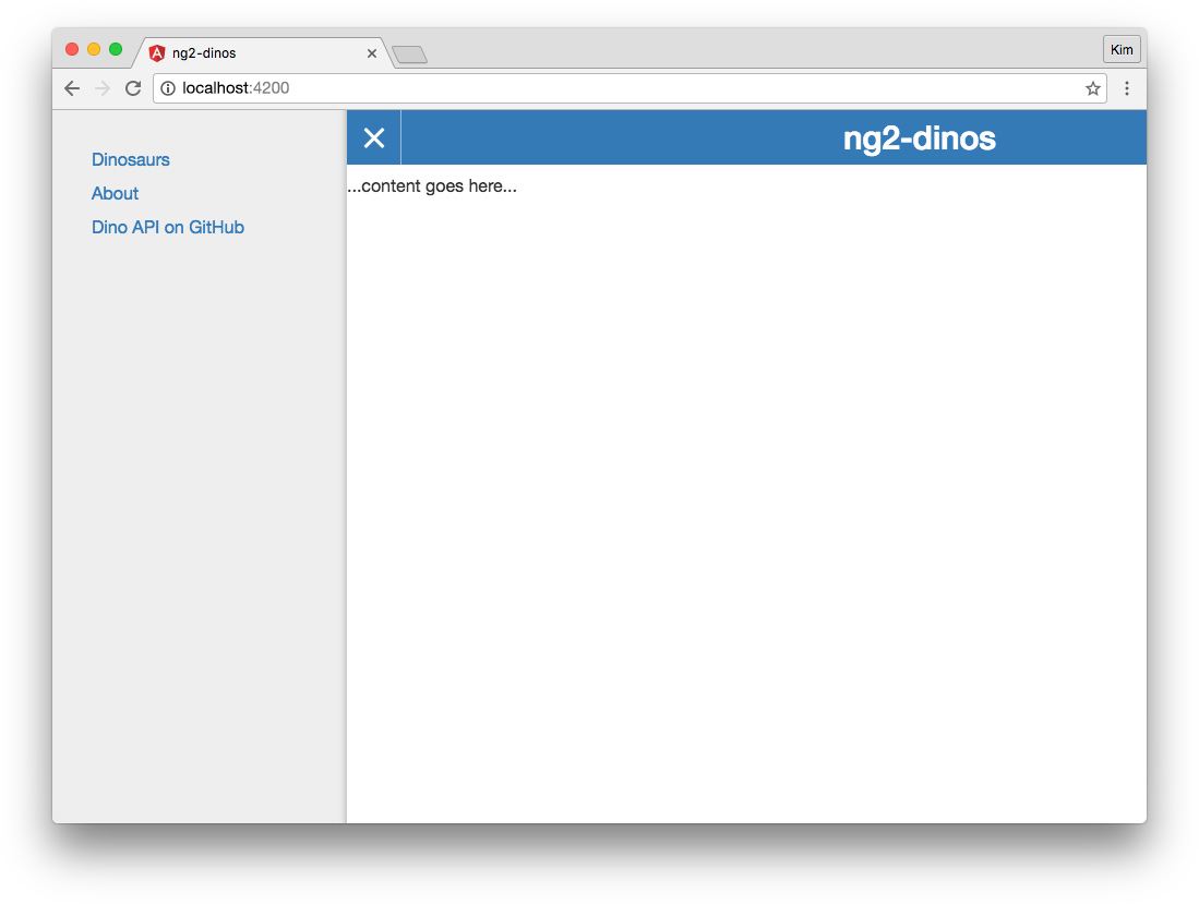 Migrating Angular 1 app to Angular 2: Angular 2 app with off-canvas navigation