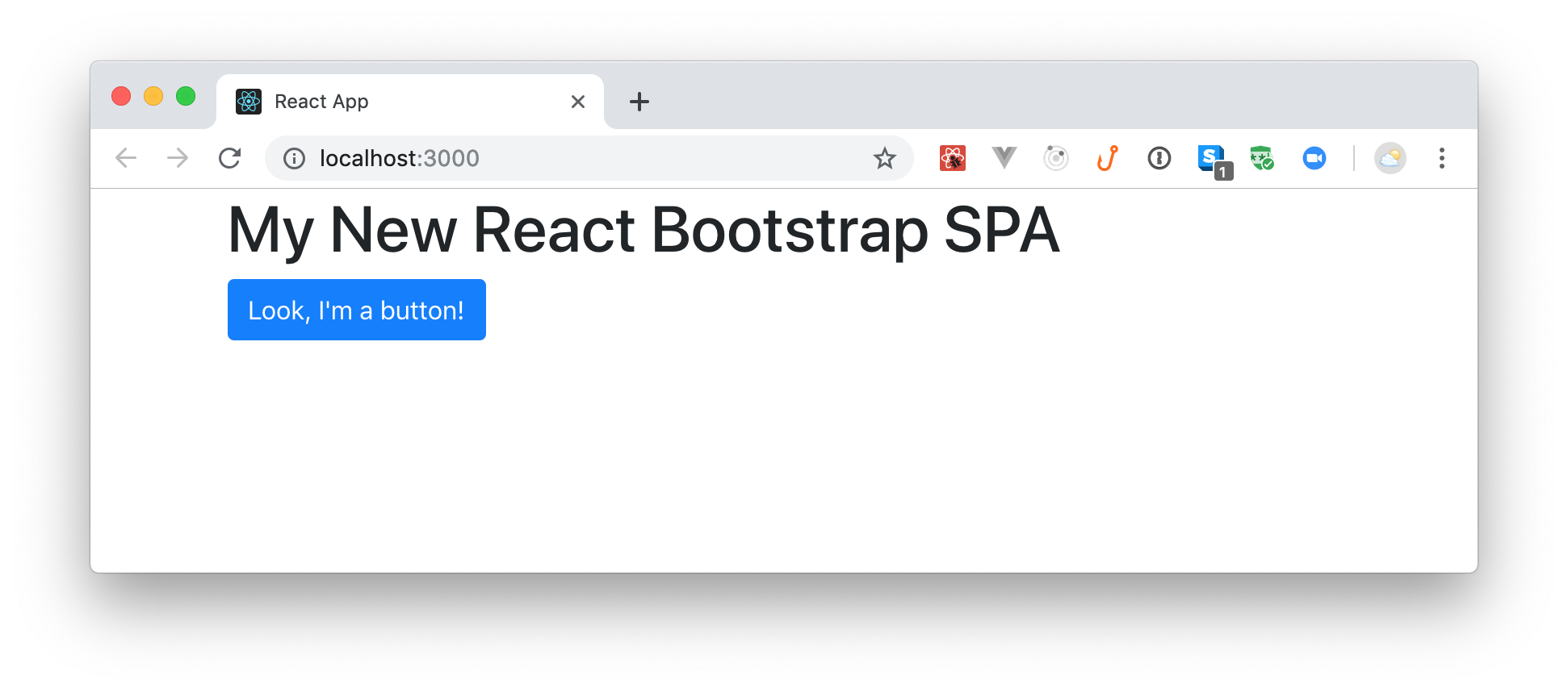 Installing and configuring React Bootstrap