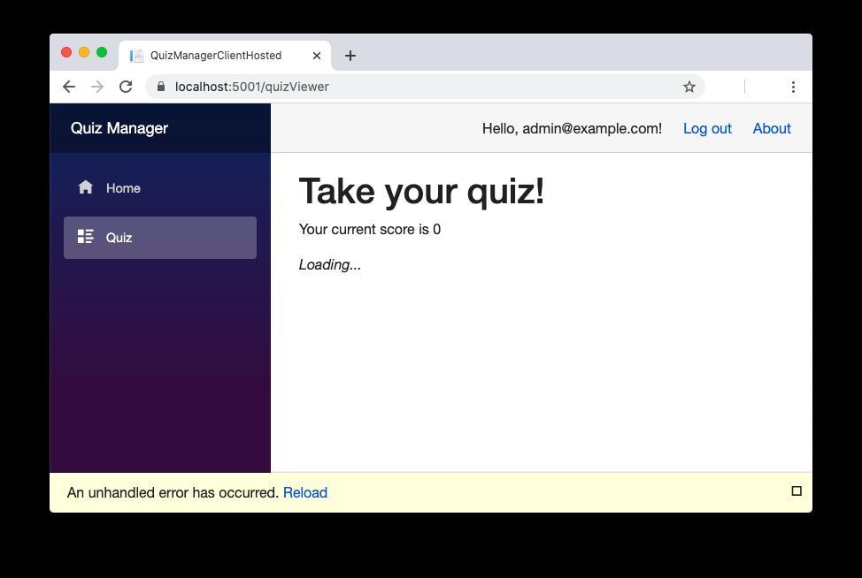 Blazor app unauthorized to access the API