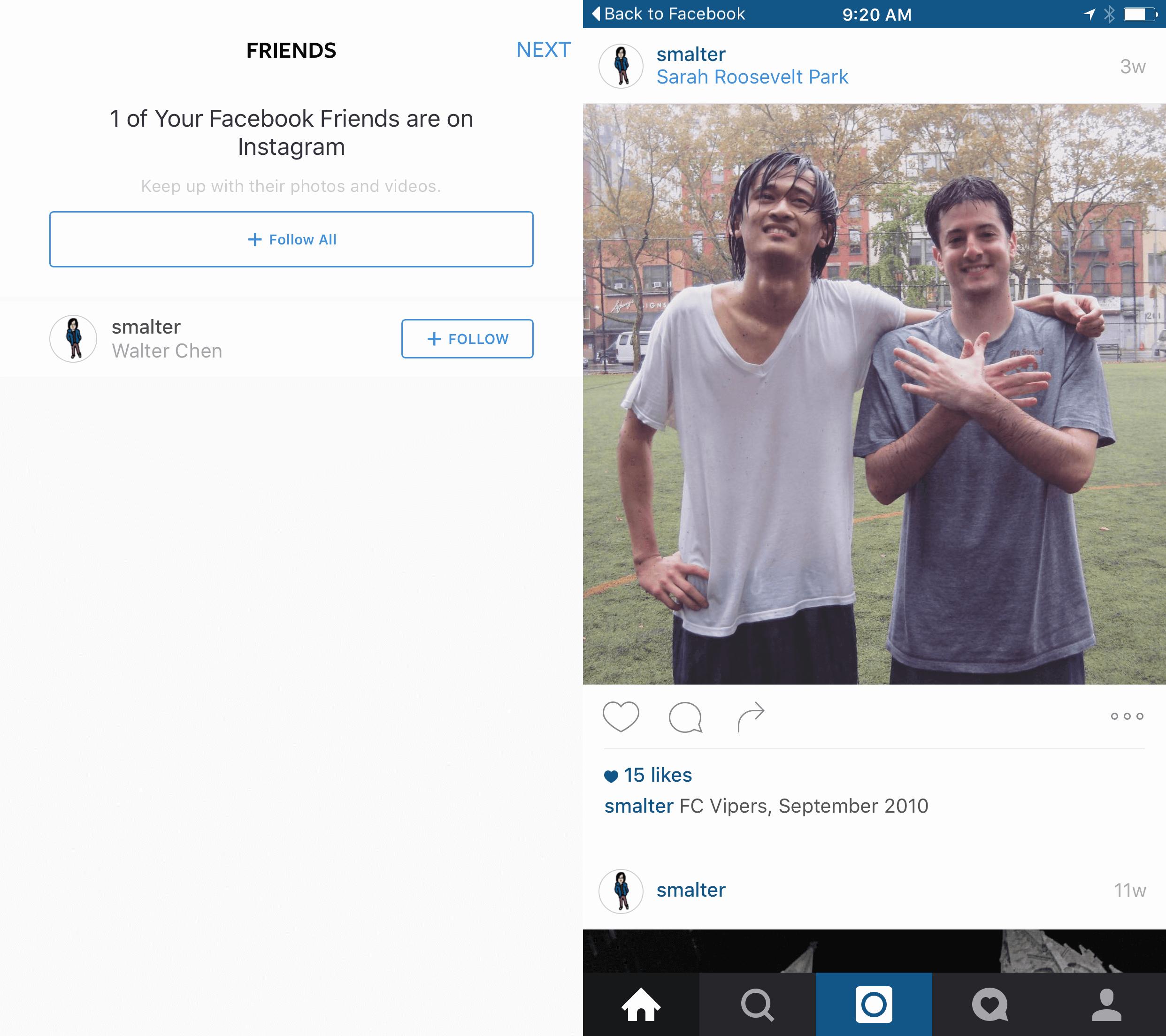 Instagram On Boarding