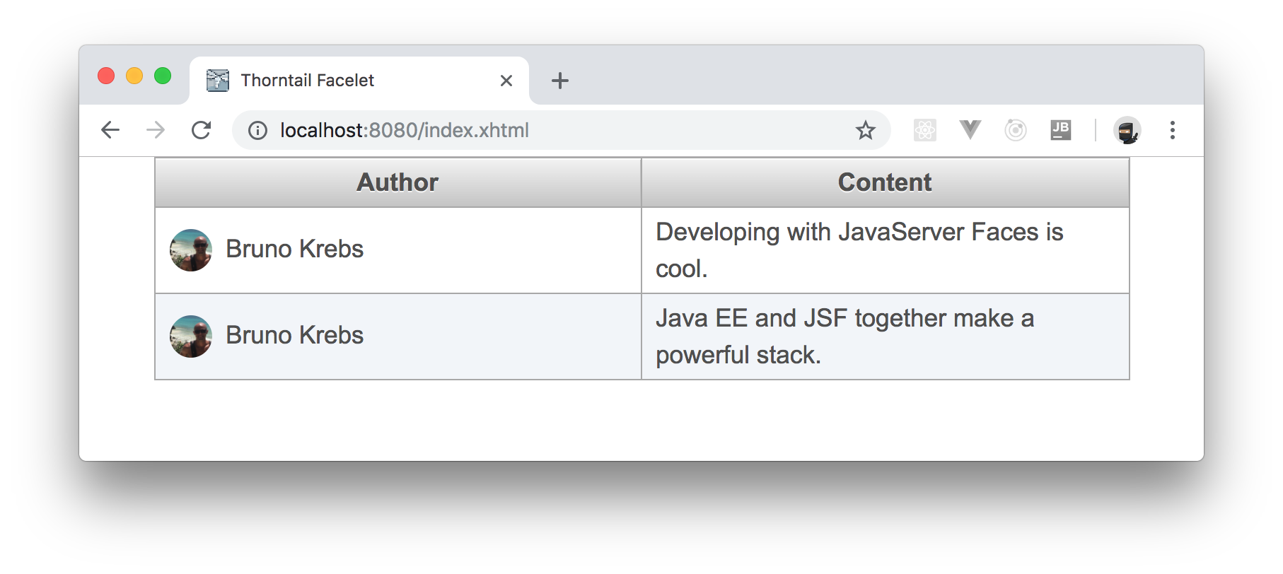 Building apps with JSF and PrimeFaces.