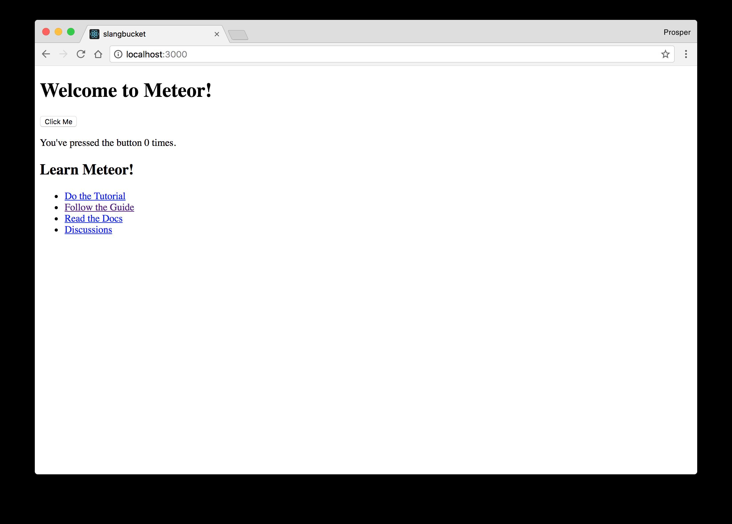 Slang Bucket - Default page