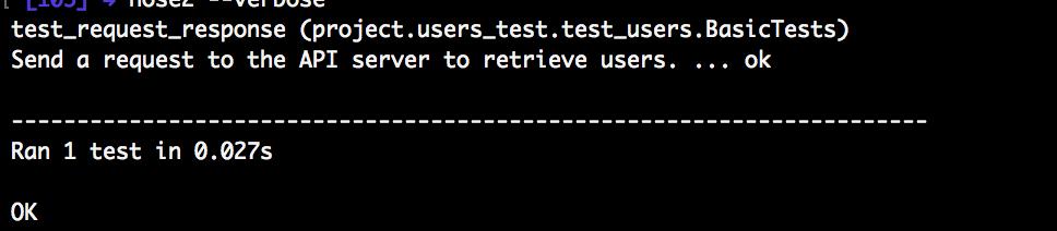 Python passing test