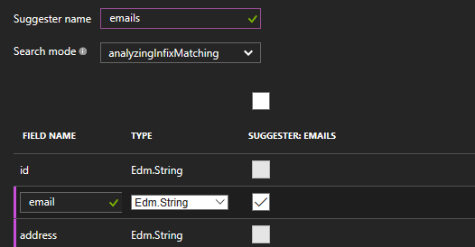 Creating a Suggester