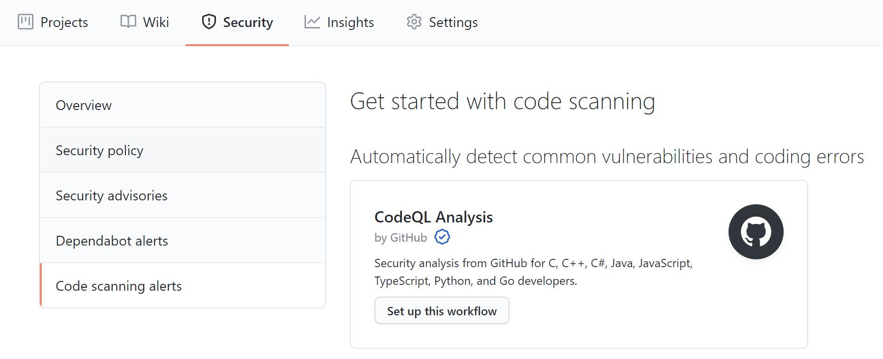 GitHub security policy