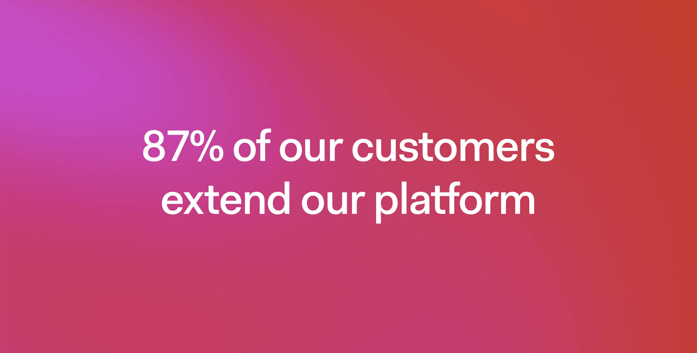 87% of Auth0's customers extend the platform by using serverless rules.