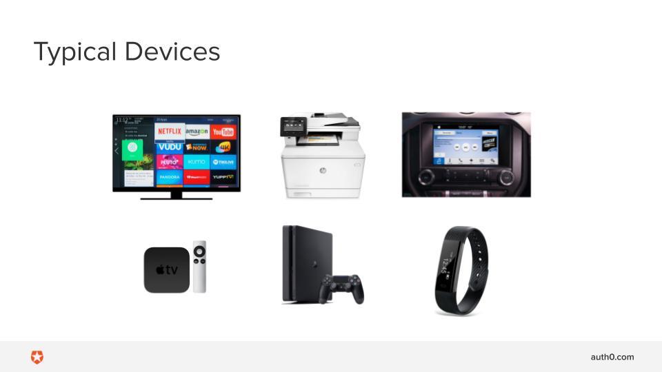 スマートテレビ、プリンタ、ゲームコンソール、その他の典型的な入力に制限のあるデバイス