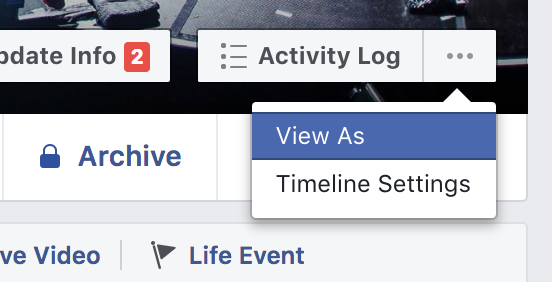 Facebook View As feature.