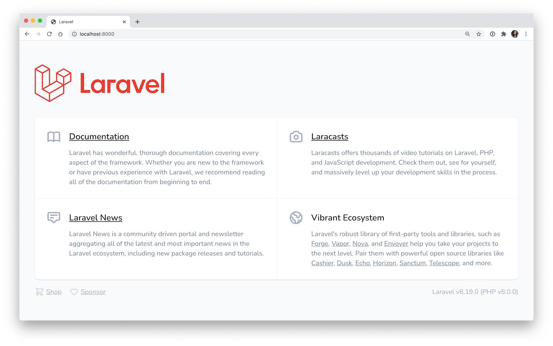Laravel starter app