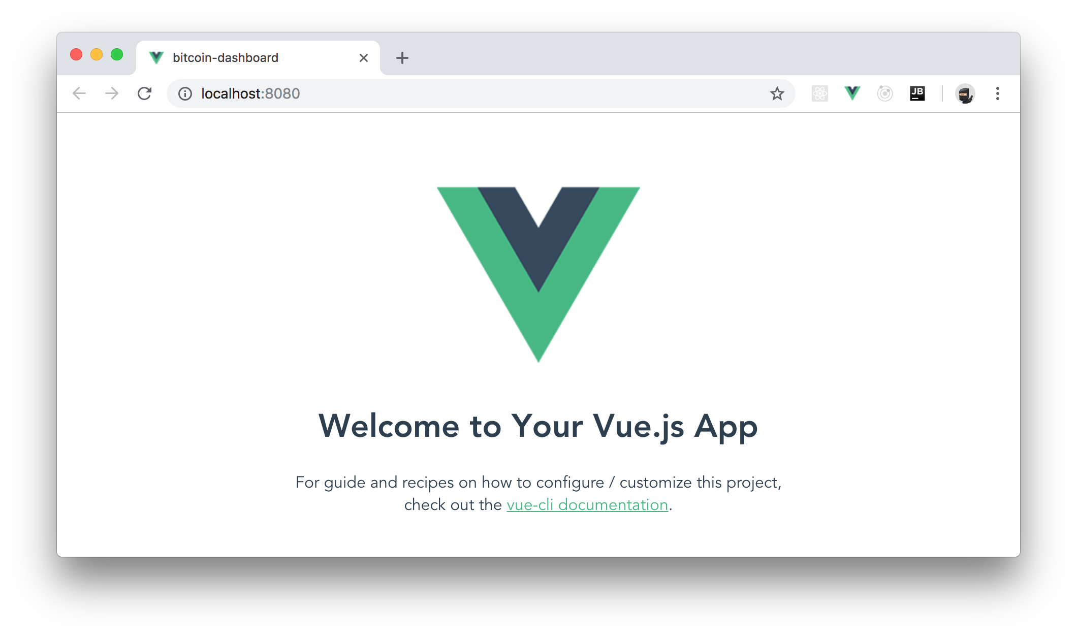 Scaffolding a new Vue.js app with the Vue CLI tool.