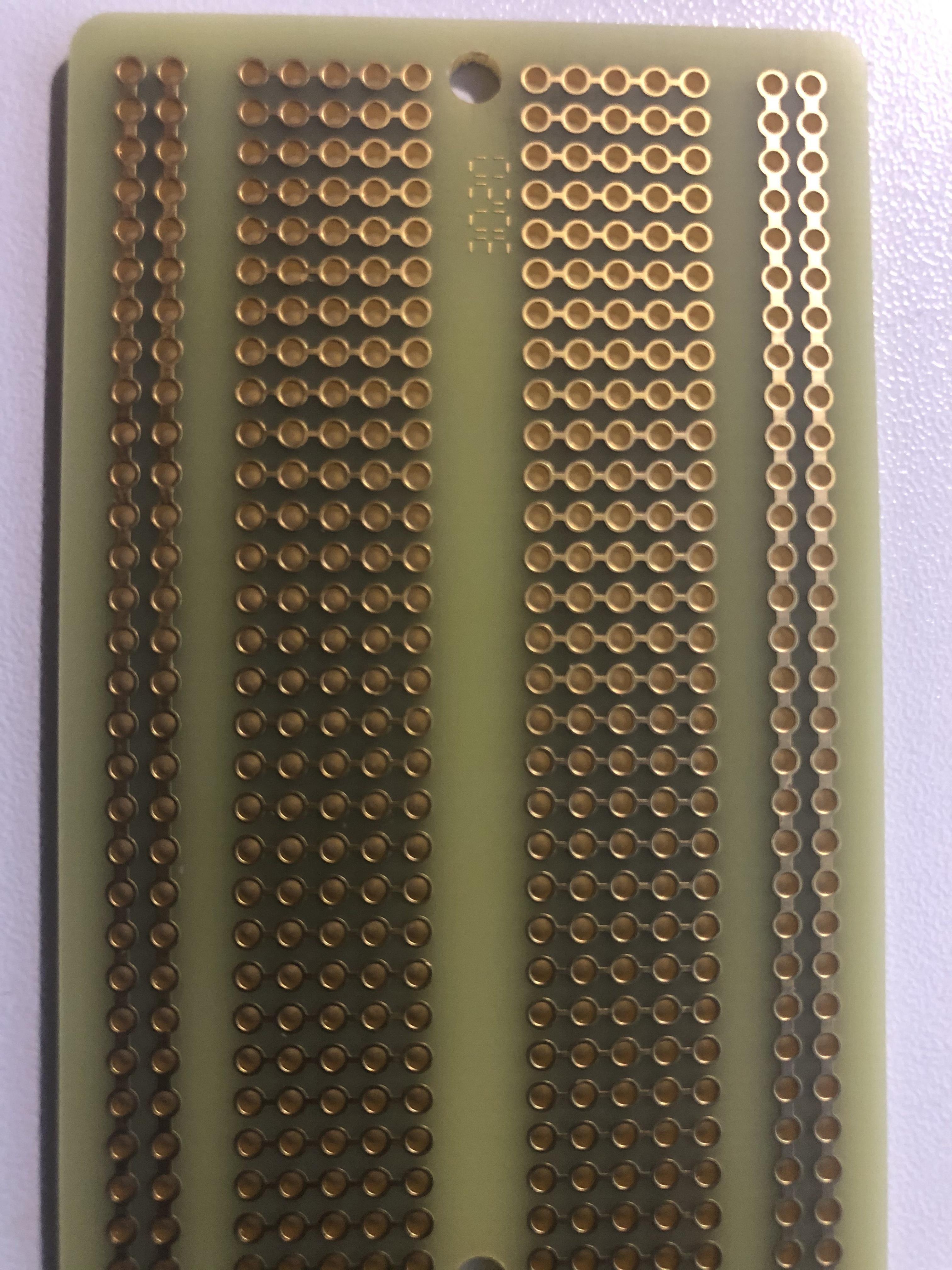 Back of Adafruit perma-proto board