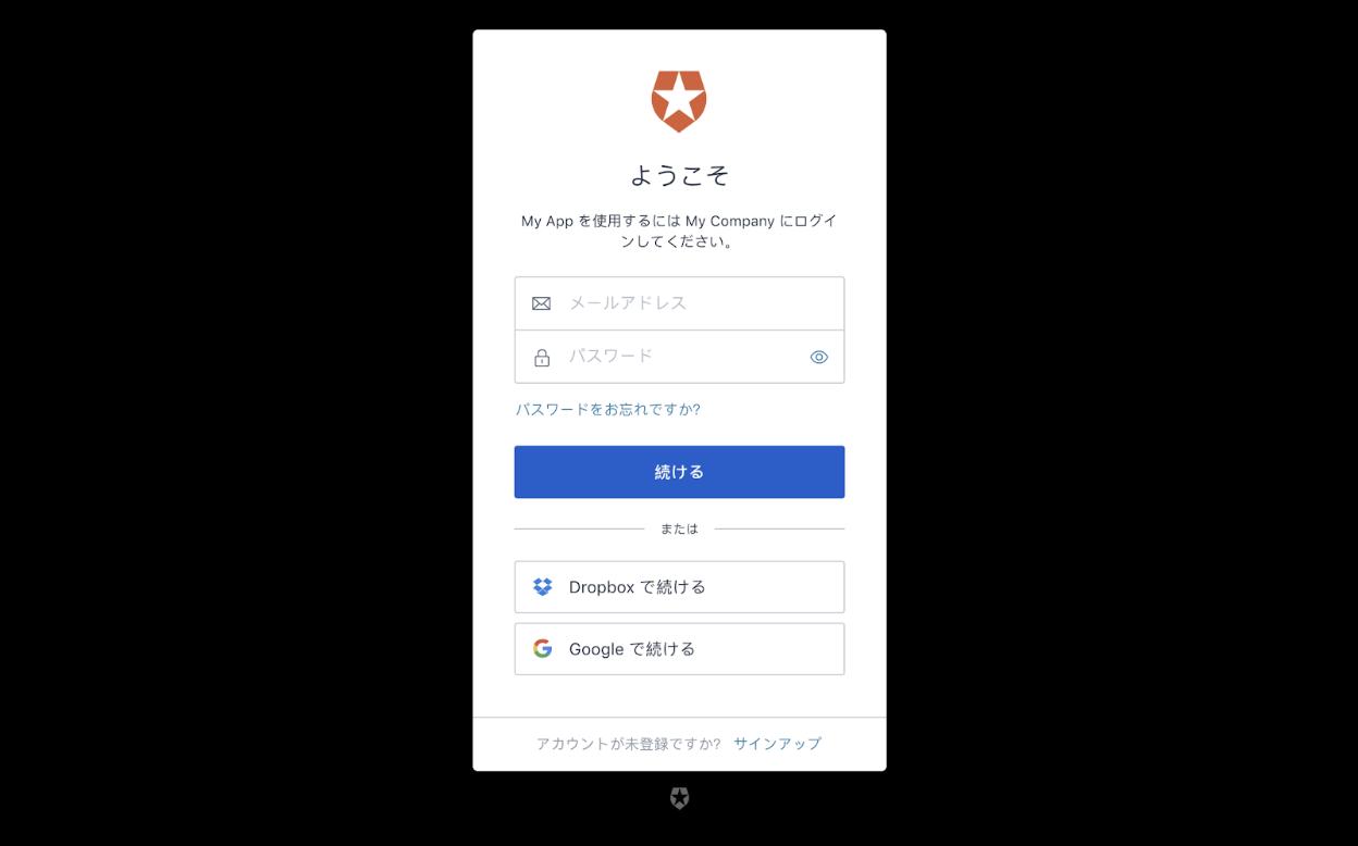 各言語のローカリゼーション/インターナショナリゼーションのログイン画面
