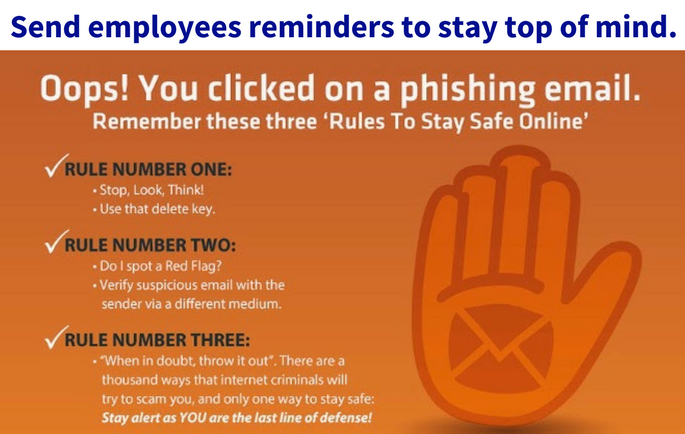 Employee training and awareness about phishing schemes