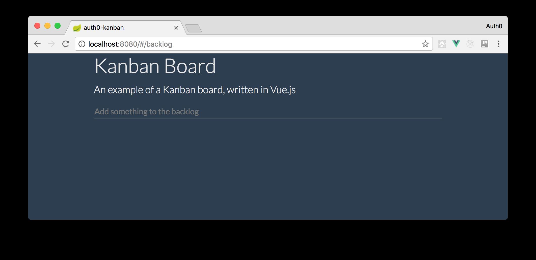 Kanban board preview