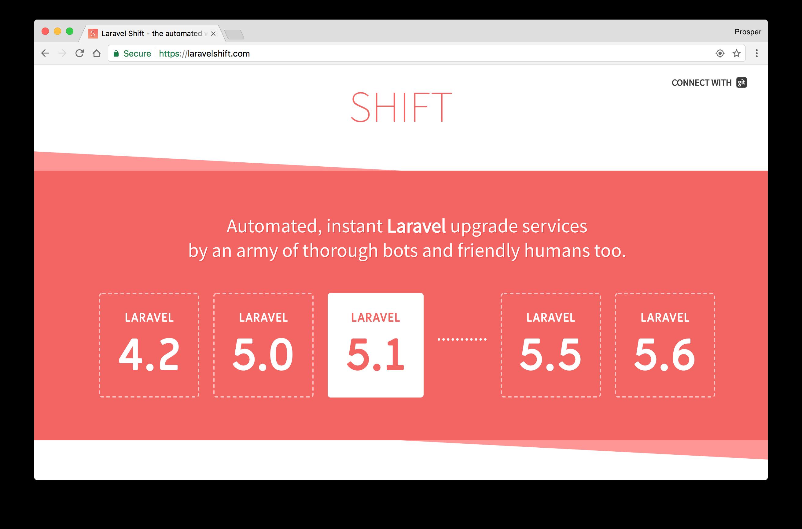 Laravel Shift
