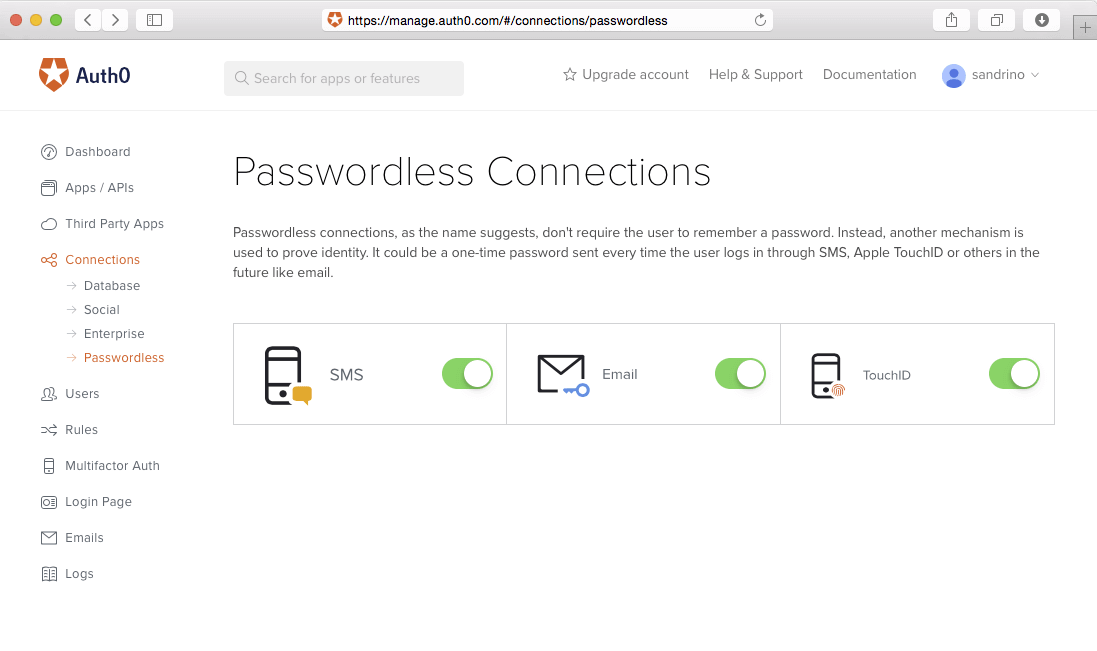 Passwordless Connections
