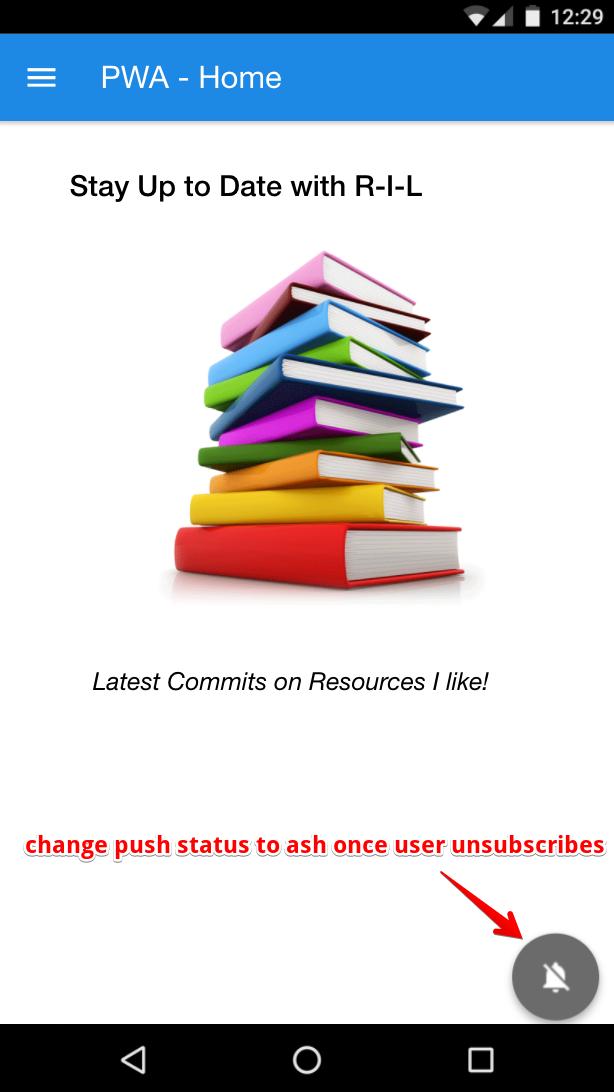 Change Push status to ash