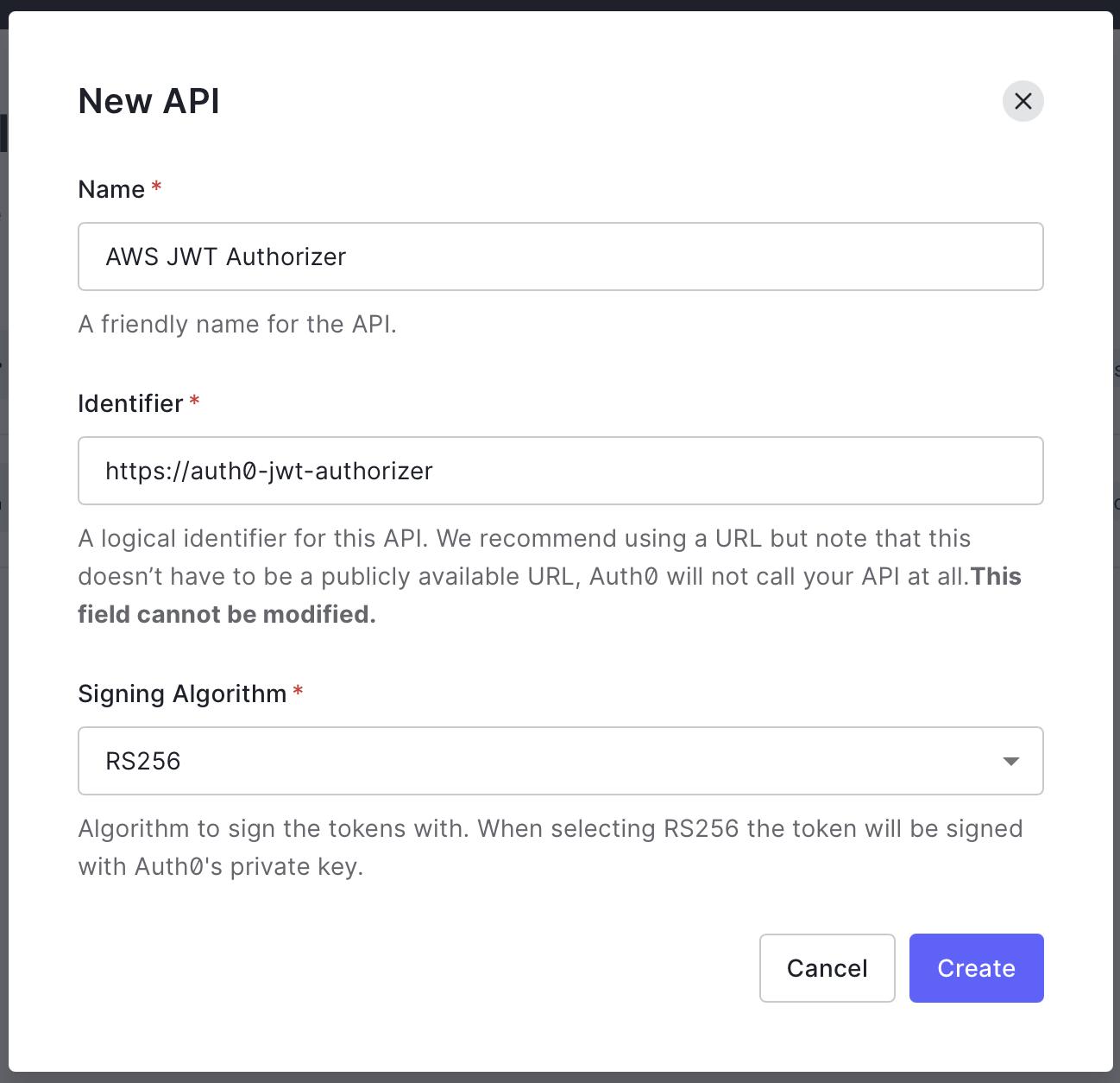 New Auth0 API