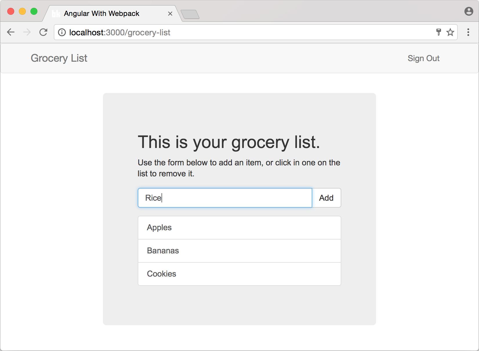 Grocery List app built with Angular 2 and Koa