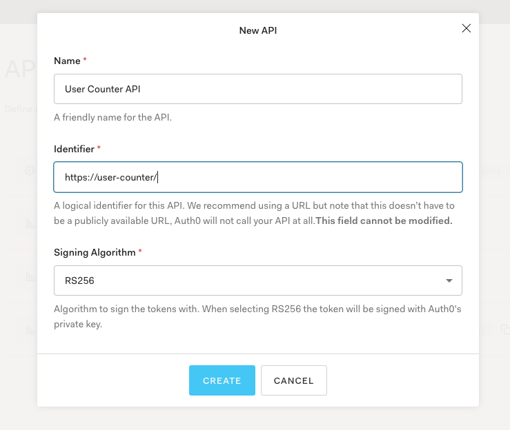 Register User Count API with Auth0
