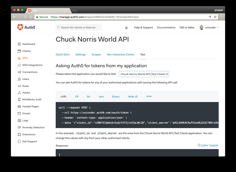 Chuck Norris World Client