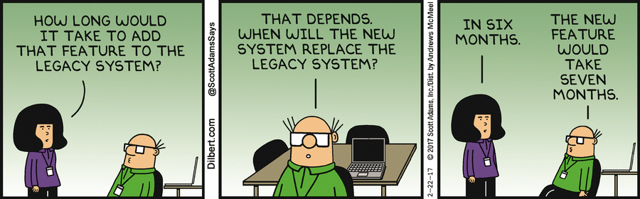 How legacy systems problems get bigger and bigger