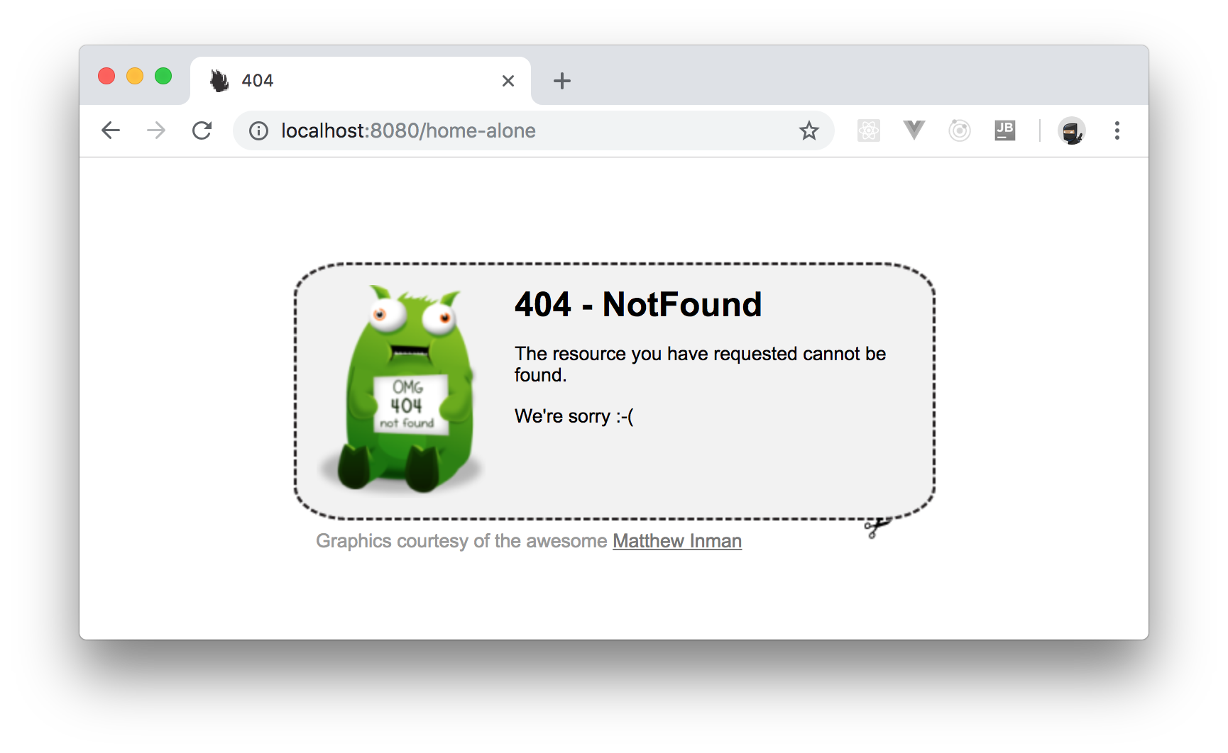 Default HTTP 404 Not Found response by Nancy