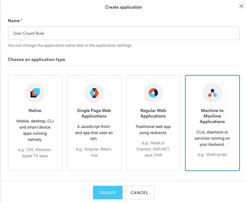 Create Machine-to-Machine application