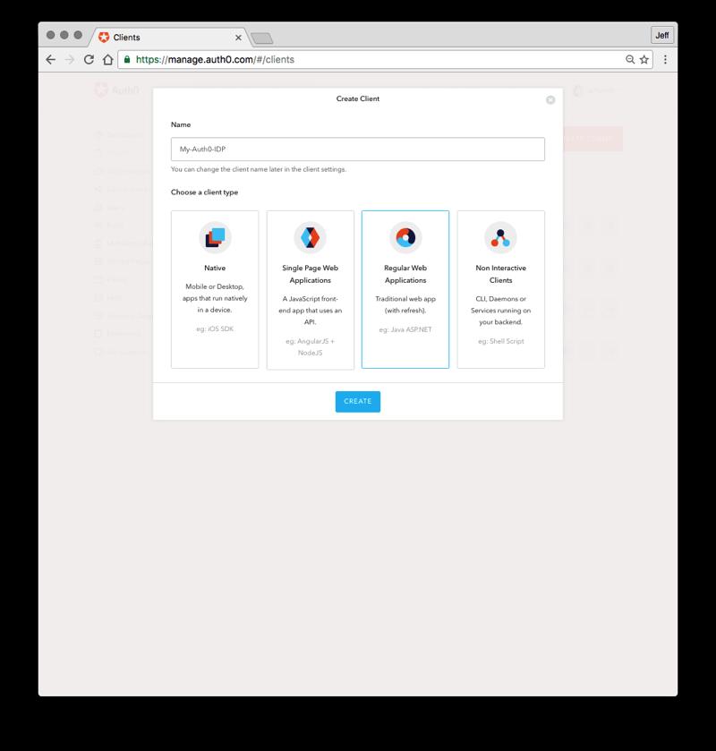 Create Client Button