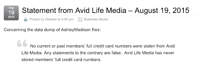 Avid Life Media Incident