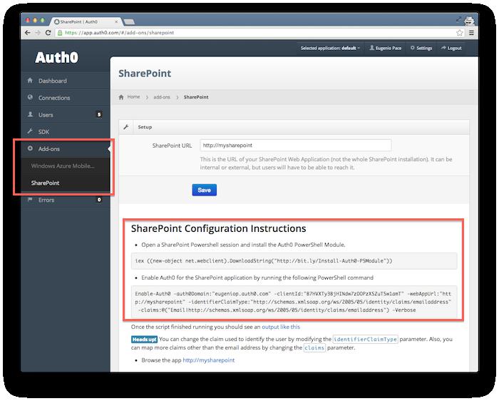 SharePoint SAML Federation