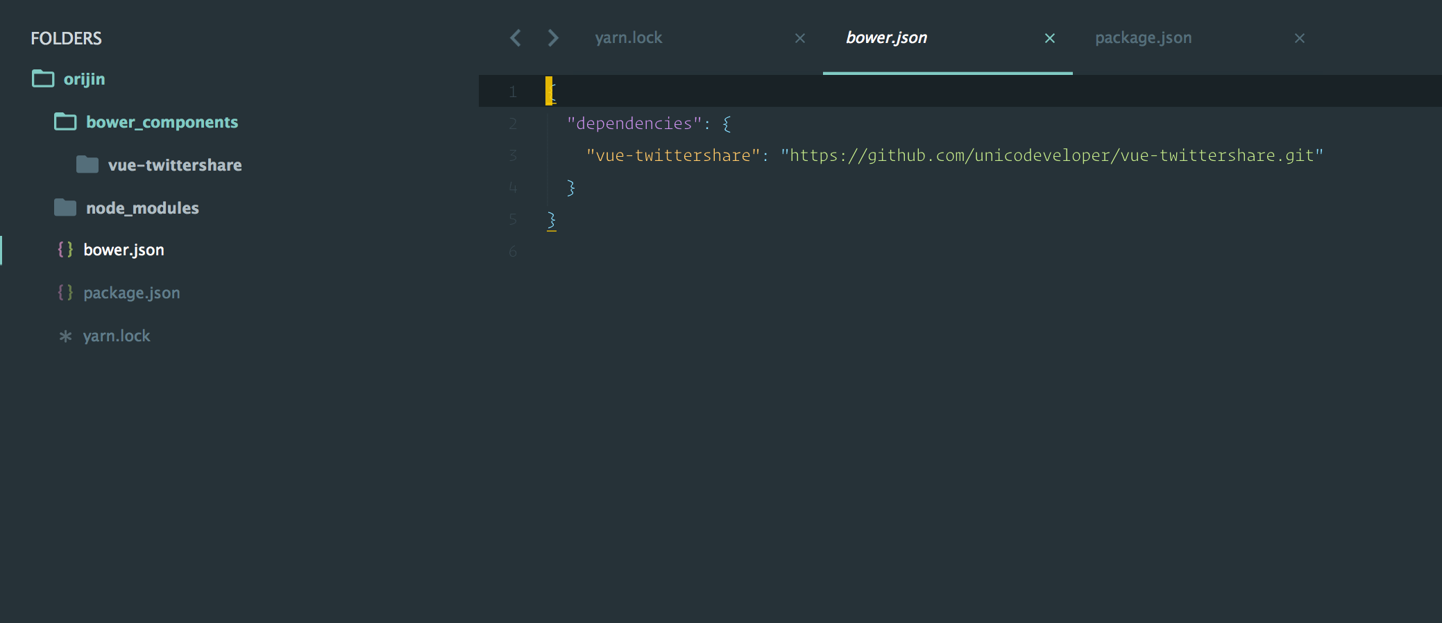 Yarn detects that a Github Rep exists as a package in the bower registry