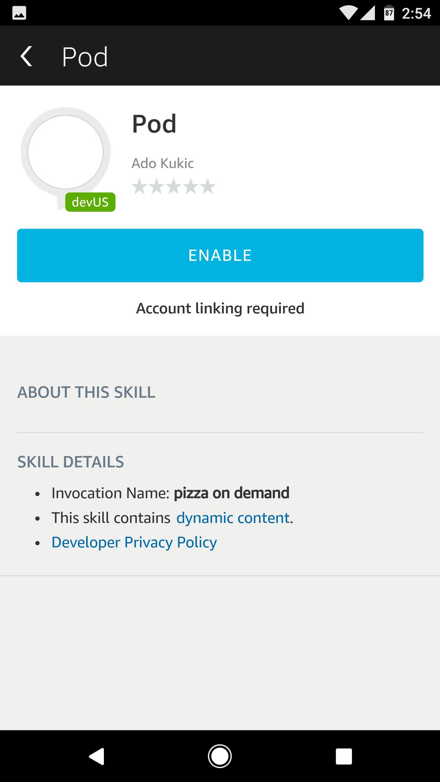 Enable Pod app