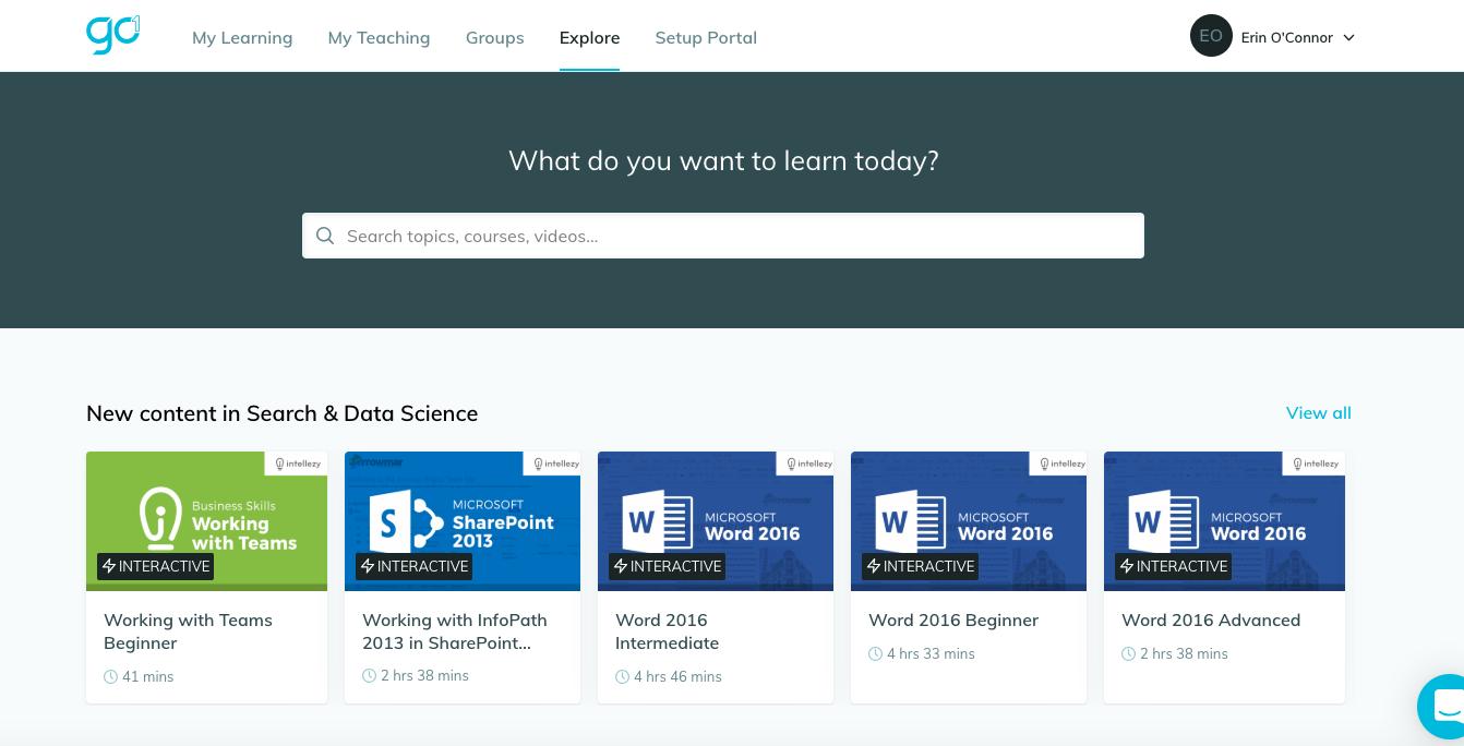 The Go1 Site screenshot