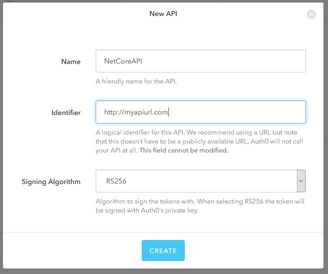 Creating a new API