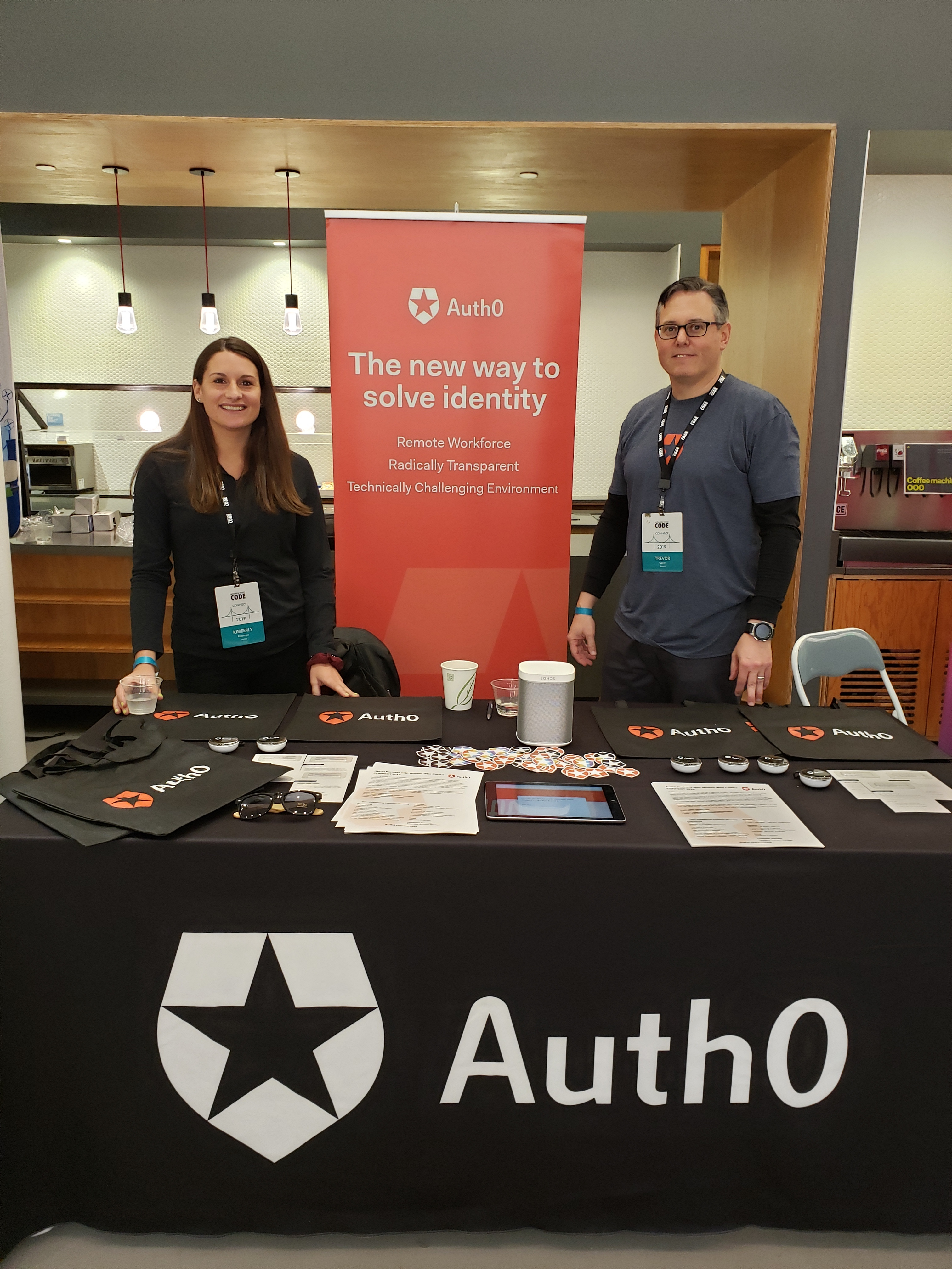 Auth0 Booth at Women Who Code CONNECT 2019