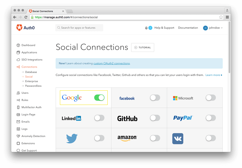 Sign In with Google on Auth0