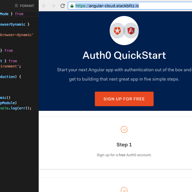 StackBlitz live project custom domain